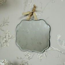 Ornate scallop edged wall mirror shabby vintage chic boudoir girls bedroom gift