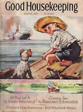1937 Good Housekeeping August - Houses in Dallas TX and Orchard Hill NY;Kitchens