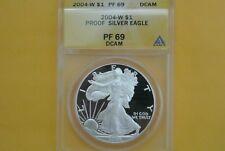 2004-W (Proof) Silver American Eagle PF-69 DCAM ANACS