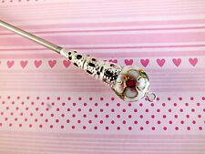BIANCO giapponese dell'era Maji CAPELLI DELLE BACCHETTE STICK PIN Nuziale CINESE FANTASIA PARTY a3