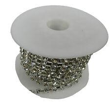 Strassband Kristall Silber SS22 5mm 1 Meter - Strasskette Dekoband Strasssteine