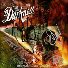 The Darkness SIGNED CD ALBUM One Way Ticket To Hell
