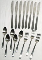 Vtg Flatware Oneida Community Stainless Lot Monogran L Forks Spoons Knives Craft