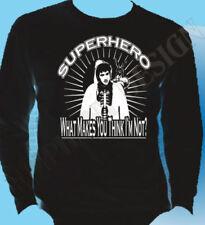 Markenlose Superhelden Langarm Herren-T-Shirts