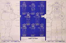 """Vintage Forbidden Planet Robby the Robot Blueprint Poster- 24""""x36""""- Rolled"""