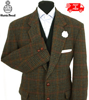 Harris Tweed Jacket Blazer 44R Dogtooth Country Windowpane Check Hacking Hunting