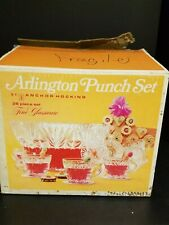 Vintage Arlington Punch Bowl Set by Anchor Hocking  B5