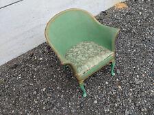 Green Lloyd loom style chair tc100718N