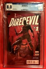 Daredevil #1 • 2/2016 MARVEL COMIC COLLECTOR  CGC GRADED 8.0 WHITE PAGES