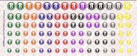 1/12 Scale Waterslide Decals: Star Wars Jedi Order Variety Set - multiple color