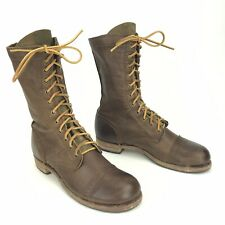 WALK OVER Vintage Collection Molly Brown Leather Cap Toe Jump Boots Womens 10 M
