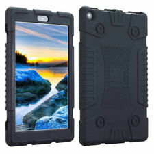Shockproof Soft Silicone Case Cover for 7inch Amazon Kindle Fire 7 2017 Tablet Black