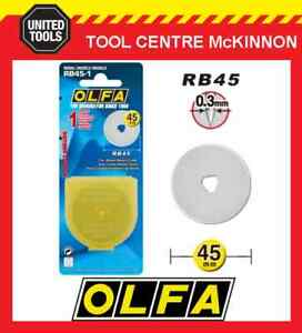 GENUINE OLFA RB45-1 45mm ROTARY CUTTER REPLACEMENT BLADE – MADE IN JAPAN