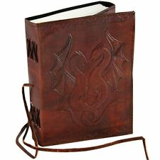 DRAGONS - Handmade Leather Journal Diary Sketchbook - Unlined Pages WYVERNS