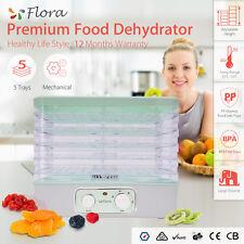 5 Trays Food Dehydrator Beef Jerky Furit Dryer Maker Preserver Household