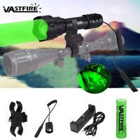 400 Yard Long Range Torch Night Predator Green LED Zoom Rifle Scope Flashlight