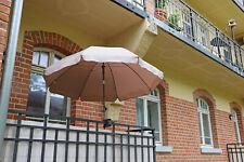 Sonnenschirm 200cm Marktschirm Schirm Gartenschirm Terrassenschirm Knicker Taupe