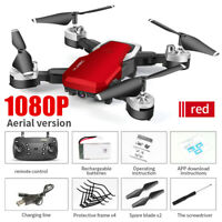 RED Quadcopter Drone 1080P HD With WIFI FPV Camera High Altitude Hold Foldable @