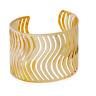 Punk Women Men Gold Hollow Punk Bangle Cuff Wide Bracelet Wristband Jewelry Gift