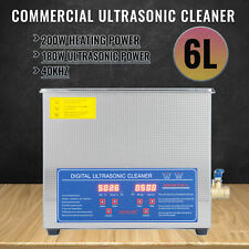 6L Liter Ultrasonic Cleaner Cleaning Equipment Industry Heated W/ Timer Heater