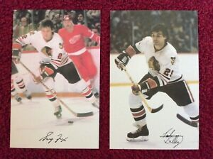 Lot 2 early 1980s Chicago Blackhawks postcards Ted Bulley Greg Fox