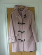 FRENCH CONNECTION BABY PINK HIGH WOOL BLEND DUFFLE COAT – SIZE 10