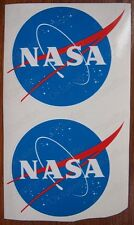 """2 * NASA Official """"Meatball"""" Stickers Vinyl Size 5""""x4"""" Decals Self Adhesive №401"""
