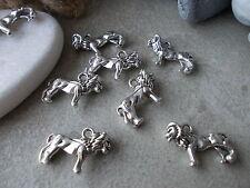 10 X Lion encantos, encantos De Metal Plateado Tibetano/Colgantes,