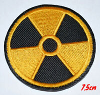 Radiation Yellow & Black World Embroidered Iron on Sew on Patch #243