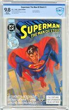 Superman: The Man of Steel  #1  CBCS   9.8  NMMT 7/91 Eradicator App.  World