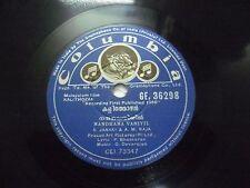 KALITHOZAN  G DEVARAJAN  MALAYALAM FILM GE 36298 RARE 78 RPM RECORD COLUMBIA EX