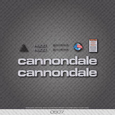 0507 Silver Cannondale R600 Bicycle Stickers - Decals - Transfers