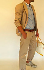 LEVIS Made & Crafted Sander Cinch Chino Jeans 32x34 Tan Brown Cotton Suspender