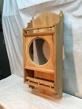 Vintage Ornate Wall Shelf Wood Clock Case Only Bath room Kitchen Shelf