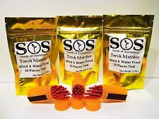 60 pcs SOS Waterproof/Windproof Matches + 3 Cases & Pouches for Kayaking Rafting