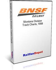 BNSF Montana Division Track Chart 1998 - PDF on CD - RailfanDepot