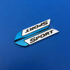 2pcs Blue Sport Metal Chrome Emblem Badge Side Rear Sticker For Nissan