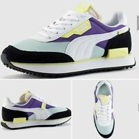 "Puma Future Rider ""Mist Green-Purple"" Junior trainers UK 4 limited edition"