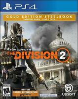 Tom Clancy's The Division 2 -- Gold Steelbook Edition (Sony PlayStation 4, 2019)