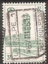 Belgium Parcel Post Stamp - Scott #Q345/Pp38 3fr Blue Green Canc/Lh 1954