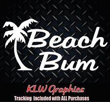 Beach Bum * Vinyl Decal Sticker Car Window Gift Ocean girl Surf Truck 1500 JDM