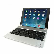 iXium Ultrathin Bluetooth Wireless Keyboard for Apple iPad Air 2 - Magnetic Stand, Silver