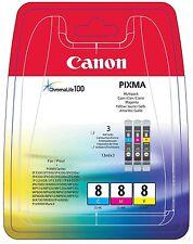 Canon Color-Tintenpatronen CLI8 - 0621B029 cyan, magenta, yellow