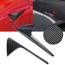 Carbon Fiber Style Side Marker Camera Turn Signal Cover For Tesla Model 3 S X