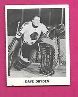 RARE 1965-66 COCA COLA HAWKS DAVE DRYDEN GOALIE  CARD (INV# C5008)