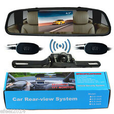 "4.3"" Car TFT LCD Monitor+12V Wireless LED Rear View Backup Reverse Camera System"
