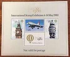 1980 London stamp exhibition mini sheet