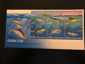 Pitcairn Islands 2007, FDC, Ocean Fish, Excellent Condition