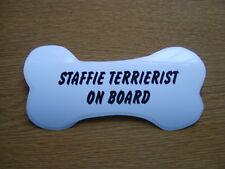 Staffie TERRIERIST on Board car window / bumper sticker