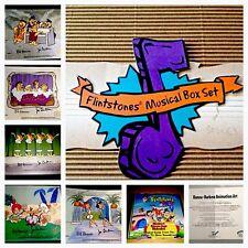 Vintage Flintstones Hanna Barbera Signed Cel Musical Box Set 5 Animation Cells